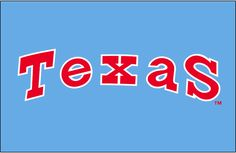 Texas Rangers Jersey Logo - Texas in red with white outline on powder blue, worn on Texas Rangers road uniform from 1976 until 1982 season Kentucky Basketball, Sports Basketball, Basketball Players, Duke Basketball, College Basketball, Mlb Team Logos, Mlb Teams, Baseball Teams, Texas Rangers Wallpaper