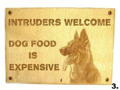 German shepherd Security sign