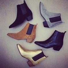 simplicityandco: weareallhidden: Saint Laurent boots for Fall : Collect 'em all.