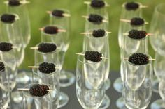 """I served a """"Blackberry Bridetini"""" signature cocktail which consisted of homemade blackberry simple syrup, vodka and club soda.  The drink was light and refreshing with a hint of sweetness."""
