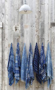 Pillows, Bedding & Throws — Malibu Beach House: A Home Design Store Mood Indigo, Indigo Colour, Indigo Blue, Love Blue, Blue And White, Shibori, Malibu Beach House, Bahamas House, African Interior