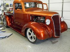 This 1937 Chevy truck, with a Glenn Kramer custom interior, was a contender for Goodguys' Hot Rod Truck of the year 2013. Description from hotrodinteriorsbyglenn.com. I searched for this on bing.com/images