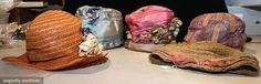 Five Summer Cloches, Augusta Auctions, May 12, 2015 - Sturbridge, MA
