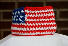 ALL PROCEEDS DONATED Crocheted American Flag by KelseysKraftKloset, $20.00