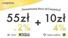 Comperia Bonus promocja na Wymarzone Konto z Raiffeisen Polbank. Polecane przez portal finansowy Comperia