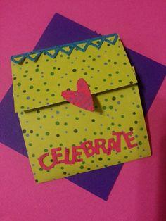 #Handmade card with pocket for gift voucher inside..