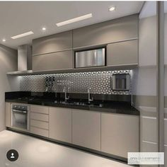 57 extraordinary kitchen design ideas for you that really like the beauty of - Modern Kitchen Interior Modern, Interior Simple, Modern Kitchen Interiors, Luxury Kitchen Design, Kitchen Room Design, Modern Kitchen Cabinets, Contemporary Kitchen Design, Kitchen Cabinet Design, Home Decor Kitchen