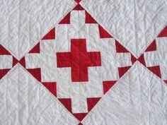Detail, Vintage Red Cross Quilt Graphic Pennsylvania Lancaster County | eBay, gb-best