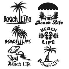 ideas tree of life svg clip art for 2019 Silhouette Cameo Projects, Silhouette Design, Beach Silhouette, Silhouette Images, Palm Tree Silhouette, Free Silhouette, Circuit Projects, Vinyl Projects, Vinyl Crafts