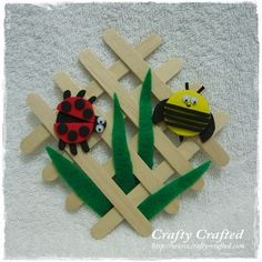 Lollipop Stick Insect Garden Craft with a bumblebee and a ladybird. I like that this one looks achievable by my 5 year olds, yet will take them quiet a while to do.