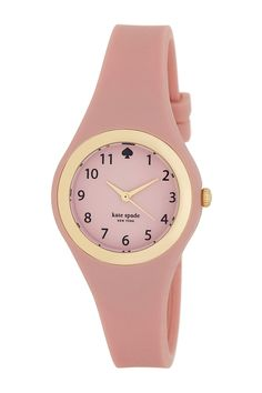 This kate spade new york silicone watch is a fab piece to add to any ensemble this season.