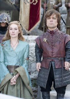 Cersei, Season 2: Here we have one of Cersei's more colorful dresses. This bird embroidered dress has an incredible amount of detail, seen b...