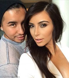 'So glam tonight!' Kim thanked her makeup artist @etienneortega for his contour magic ahead of Ryan Seacrest's event
