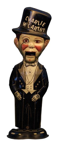"American Lithographed Tin Wind-Up Character  TOY ""CHARLIE MCCARTHY,"" LOUIS MARX TOY COMPANY, CIRCA 1930S"