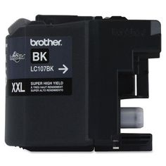 Brother LC107BK Ink Cartridge, 1200 Yield, Black