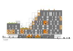 Galeria de The Docks / Atelier du Pont - 14 Architecture Portfolio, Architecture Plan, Architecture Diagrams, University Housing, Prefabricated Houses, Urban Analysis, Social Housing, Interesting Buildings, Site Plans