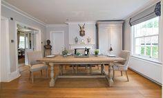 Montague Large Weathered Oak Rectangular Dining Table