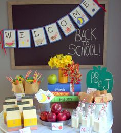 Back to school party! See more party planning ideas at CatchMyParty.com!