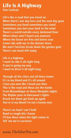"""""""Life is a Highway"""" How amazing are the words to this song? Song Lyrics Rock, Me Too Lyrics, Music Lyrics, Disney Songs, Disney Music, Music Do, Music Is Life, Can You Feel It, How Are You Feeling"""