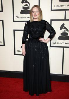 The 2016 GRAMMY Awards: Adele http://en.louloumagazine.com/celebrity/red-carpet/the-2016-grammy-awards/ / Les GRAMMY Awards 2016: Adele http://fr.louloumagazine.com/stars/tapis-rouge/les-grammy-awards-2016/