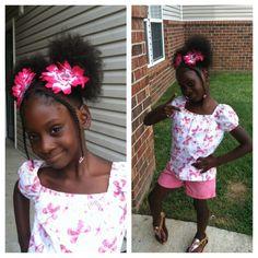 Kids natural hair styles