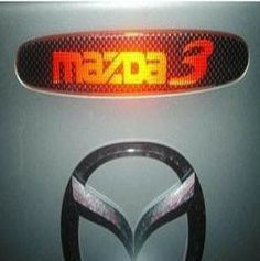 5pcs/lot Free shipping New Car Sticker Carbon Fiber Speial Refit  for Car MAZDA 3 CHMSL Post Taillight Stickers Car Accessories $6.98