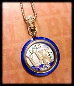 Sale Fast Free Shipping! University of Kentucky Wildcats locket by CharmedJewelryByCDay on Etsy