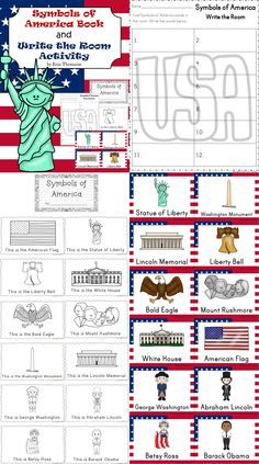 FREE Symbols of America Book and Write the Room activity.