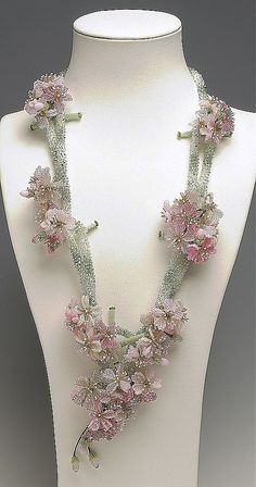 Jewelry Design - Double-Strand Necklace with Seed Beads and Swarovski Crystal Components - Fire Mountain Gems and Beads Seed Bead Jewelry, Bead Jewellery, Beaded Jewelry, Seed Beads, Beaded Necklaces, Perler Beads, Art Perle, Ideas Joyería, Motifs Perler