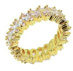 Beydodo Alloy Gold Plated Women's Rings Vintage One Circle Polished Oval CZ Size 6 To Size 9 >>> Hurry! Check out this great product : Jewelry Rings