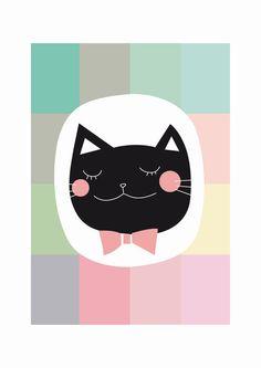 EUGÉNIE - gato negro - Print de mi ilustración original