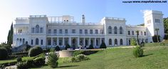The Lavadiya Palace, Yalta over looking the Black Sea. Tsar Nicholas II and his family spent the Fall of 1911 and 1913 and the Spring of 1912 and 1914 here, but did not return after the First World War began. The Tsar's father, Alexander III passed away quietly in his bed here from kidney disease at the age of 49. Years later this was the site of the Yalta conference after World War II.