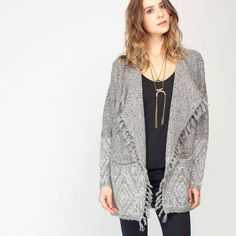 Fringed Open Cardigan by Gentle Fawn