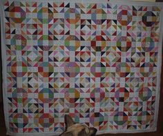 Scrappy Quilt -Honey Honey - by ontheriver from the QB