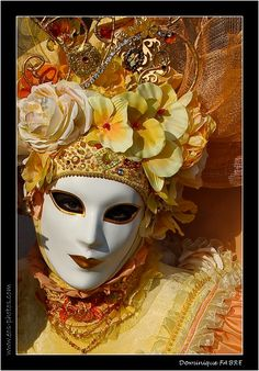 By the photographer ~Dominique Fabre  At Carnevale in Venice - Italy.