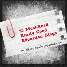20 Must-Read Really Good Education Blogs