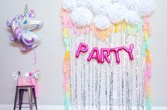 Unicorn themed birthday parties for girls in London Essex Kent Surrey. Unicorn pamper parties and spa party ideas for girls in Unicorn Themed Birthday Party, Spa Birthday Parties, Rainbow Birthday, Birthday Party Decorations, 5th Birthday, Themed Parties, Party Kulissen, Girl Spa Party, Party Ideas