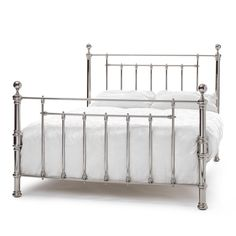 Furniture. Adjustable Bed Baffling Metal Bed Frames Ideas With Silver Color Stainless Steal And Combine White Covered Bedding Sheets Pillows King Bed . Great Ideas Of Metal Bed Frames