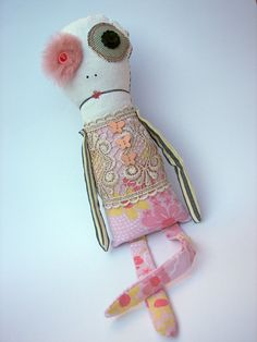 Handmade Upcycled Plush Doll - BETTY by Kristina Meucci