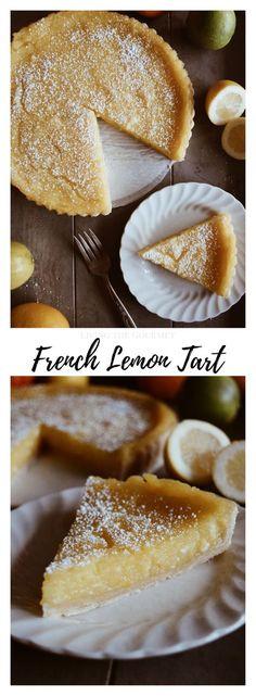 French Lemon Tart - Living The Gourmet
