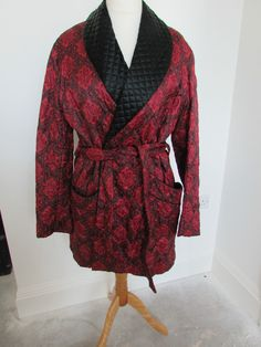 Tootal Vintage Smoking Jacket - Quilted and lined Chest size large in Clothes, Shoes & Accessories, Vintage Clothing & Accessories, Men's Vintage Clothing | eBay