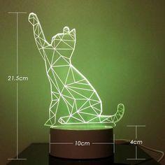 3D 무드등 테이블 LED 전등 램프 : 힙제이