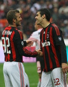 "One day, two legends in one big club ""AC Milan"" Football Icon, Best Football Players, Football Is Life, World Football, Football Kits, Soccer Players, Ac Milan, David Beckham Photos, Pier Paolo Pasolini"
