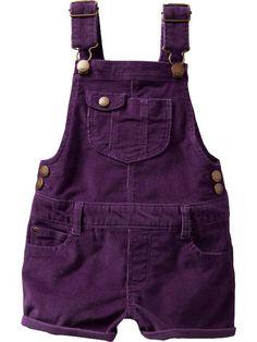 Corduroy short overalls