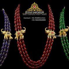 Womens Hallmark Necklaces, Jewelry | zevaremporium South Indian Jewellery - Jewelry #GoldJewelleryKundan #GoldJewelleryIndian