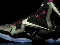 Nike LeBron 11 - Black - Metallic Silver - Dark Grey - Pink Flash