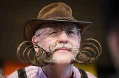 Eccentric: The competition attracted more the 300 hopefuls sporting handlebar moustaches a...