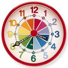 Educator Wall Clock -  So much easier to tell what hour it is with the color coded sections.