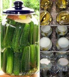 egycsipet: Kovászos uborka télre-nyárra Canning Recipes, My Recipes, Favorite Recipes, Hungarian Recipes, Kefir, No Bake Cake, Love Food, Pickles, Cucumber