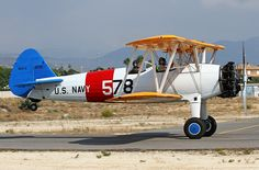 Boeing A75N1 Stearman - military trainer aircraft in the 1930s to 1940s.